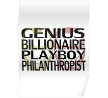 Genius, Billionaire, Playboy, Philanthropist Poster