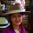 Lovely Lady 40 - In A Panama Hat by Al Bourassa