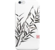 No doubt bamboo sumi-e painting iPhone Case/Skin