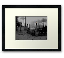 COURTYARD - EARLY MORNING Framed Print