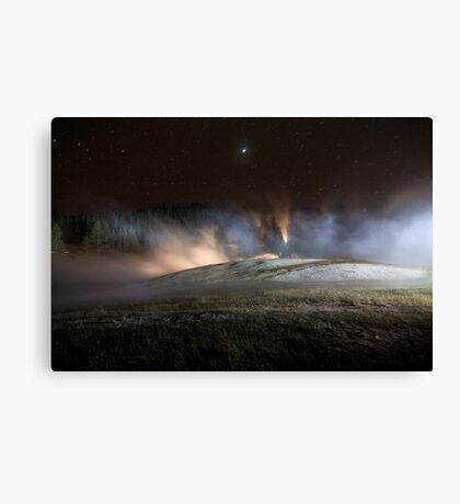 Geothermal Painted with Light Canvas Print