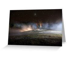 Geothermal Painted with Light Greeting Card