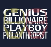 Genius, Billionaire, Playboy, Philanthropist by OriginalApparel
