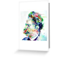 NIETZSCHE watercolor portrait.3 Greeting Card