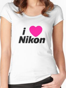 I Love Nikon -  But I own a canon! Women's Fitted Scoop T-Shirt