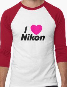 I Love Nikon -  But I own a canon! Men's Baseball ¾ T-Shirt