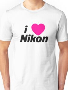 I Love Nikon -  But I own a canon! Unisex T-Shirt