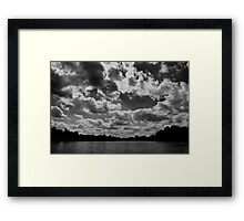 Clouds Roll Over in Black and White Framed Print