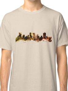 Skyline of Fort Worth Texas USA Classic T-Shirt