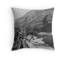 Walking the Camels Throw Pillow
