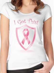 I Got This - Cancer Ribbon Women's Fitted Scoop T-Shirt