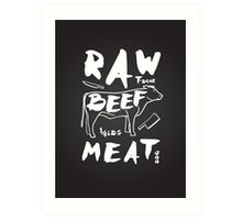 Raw Beef meat Art Print