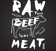 Raw Beef meat by ONiONAstudio
