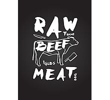 Raw Beef meat Photographic Print