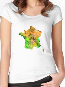 Map of  France Women's Fitted Scoop T-Shirt
