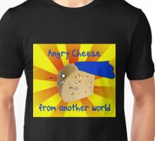 Angry Cheese from another world Unisex T-Shirt