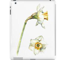 White & Yellow Daffodil iPad Case/Skin