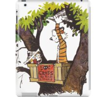 calvin and hobbes on tree  iPad Case/Skin