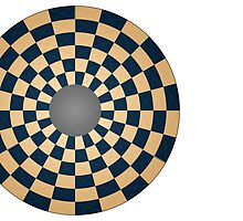 Circular Three Player Chess Board by glyphobet
