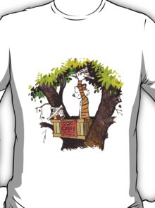 calvin and hobbes on tree  T-Shirt