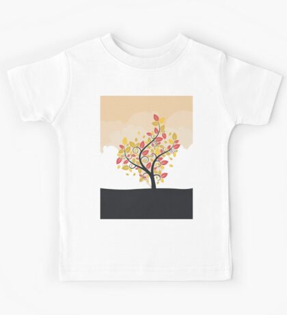 Stylized Autumn Tree Kids Tee
