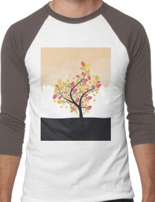 Stylized Autumn Tree Men's Baseball ¾ T-Shirt