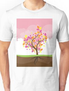Stylized Autumn Tree 2 Unisex T-Shirt