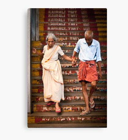 A helping hand Canvas Print