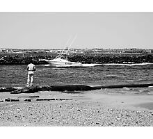 Lonely Fisherman Photographic Print