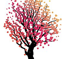 Stylized Autumn Tree 4 by AnnArtshock