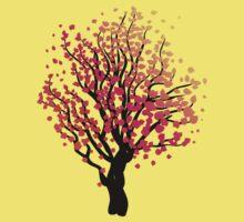Stylized Autumn Tree 4 Kids Tee