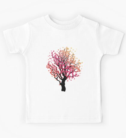 Stylized Autumn Tree 4 Kids Tee