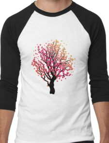 Stylized Autumn Tree 4 Men's Baseball ¾ T-Shirt