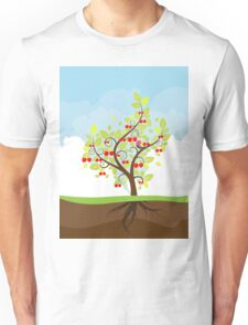 Stylized Cherry Tree Unisex T-Shirt