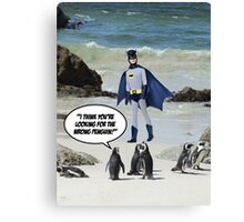 The Wrong Penguin! Canvas Print