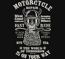 Motorcycle repair Fast Ride with biker skull Unisex T-Shirt