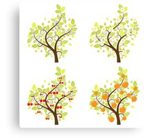 Stylized Fruit Trees 2 Canvas Print
