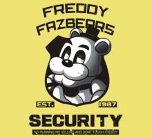 Freddy Fazbear's Security BLACK AND WHITE Kids Clothes