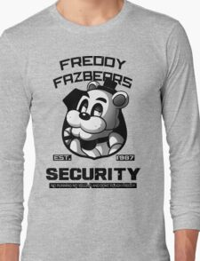 Freddy Fazbear's Security BLACK AND WHITE Long Sleeve T-Shirt