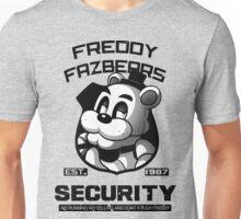 Freddy Fazbear's Security BLACK AND WHITE Unisex T-Shirt