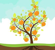 Stylized Orange Tree by AnnArtshock