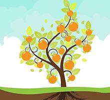 Stylized Orange Tree by AnnArtshock
