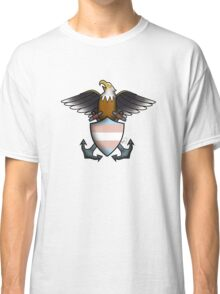 American Traditional Trans Pride Eagle  Classic T-Shirt
