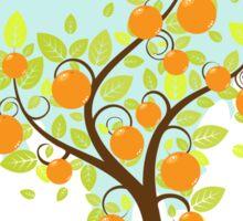 Stylized Orange Tree Sticker