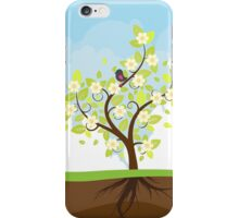 Stylized Spring Tree iPhone Case/Skin