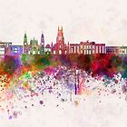 Bogota skyline in watercolor background v2 by paulrommer