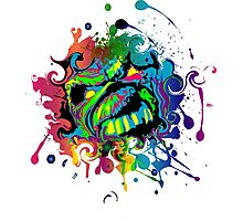 VIBRANT ABSTRACT ZOMBIE - large design Photographic Print