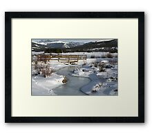 Winter in Colorado Framed Print