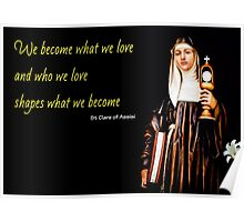 Saint Clare of Assisi Poster