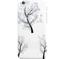 Trees with Snowflakes iPhone Case/Skin
